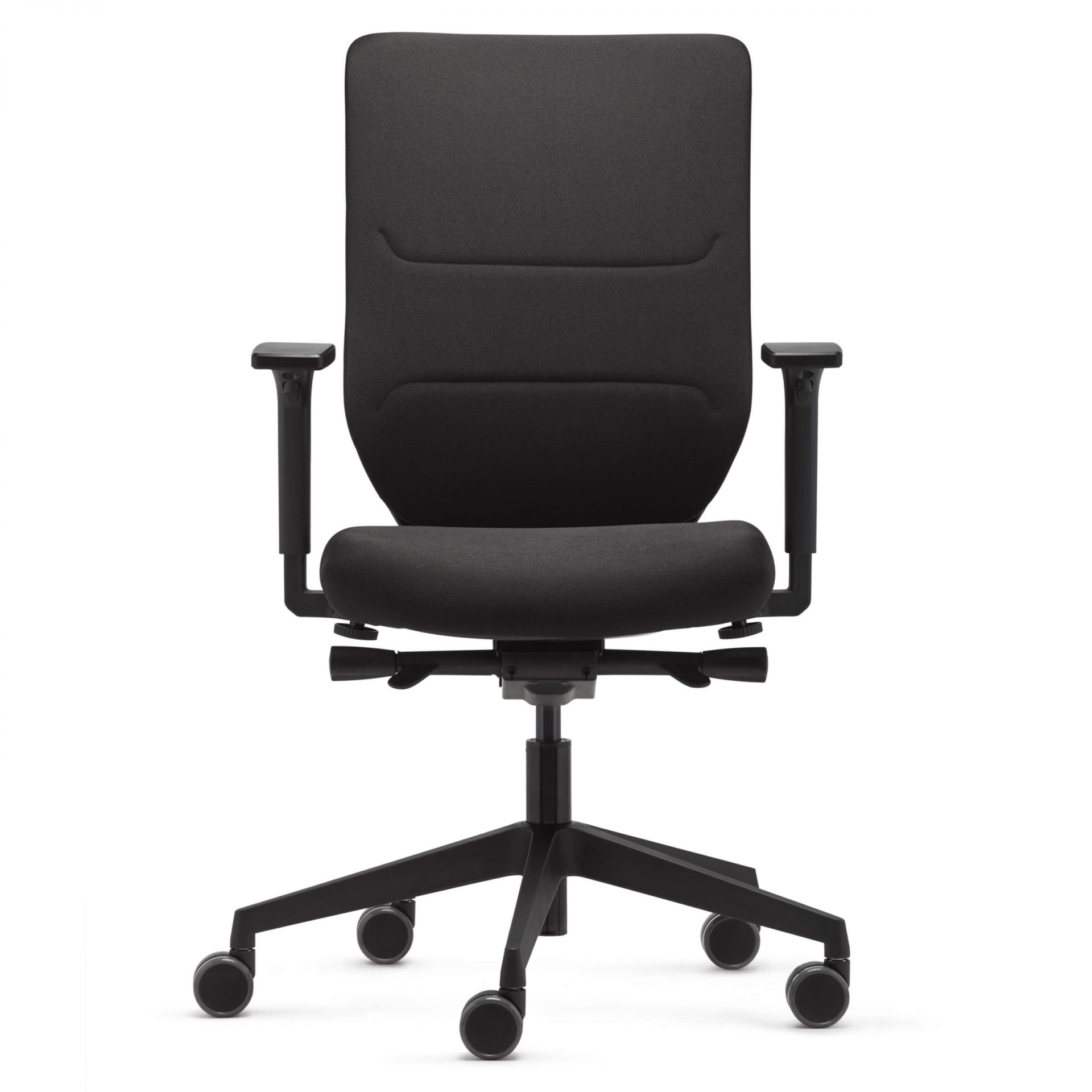 WF Upholstered Chair Black with Armrests